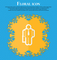 businessman Floral flat design on a blue abstract vector image vector image