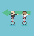 businessmen and african businessmen riding a vector image vector image