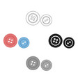 buttons icon for web and vector image