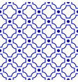 chinese pattern blue and white vector image