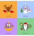 Christmas flat set vector image vector image