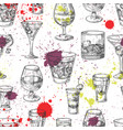 cocktail party seamless pattern with hand vector image vector image