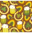 Colorful seamless StPatricks day pattern vector image vector image
