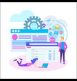 Conceptual web seo teamwork project web agency