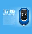 creative of blood glucose vector image