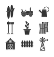 Farming icons set vector image