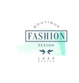 fashion boutique logo design badge for clothes vector image vector image