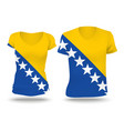 Flag shirt design of Bosnia and Herzegovina vector image vector image