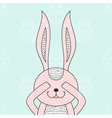 Funny bunny hidden rabbit head Happy Easter vector image