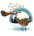funny christmas reindeer vector image vector image