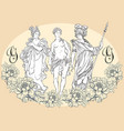 greek gods the mythological heroes of ancient vector image