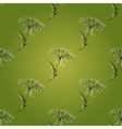 Green Seamless Vintage Pattern with Herbs flowers vector image vector image