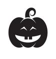 Halloween black pumpkin icon vector image vector image