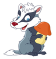 happy cartoon badger vector image vector image