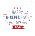 happy independence day vintage usa greeting card vector image vector image