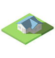 isometric of house on the grass for icon vector image vector image