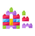 kid toy construction cubes or children constructor vector image