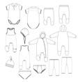 kids underwear vector image vector image