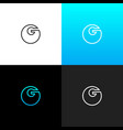 logo g linear bold logo of the letter g for vector image
