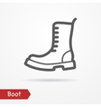 Military boot icon vector image