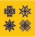 modern professional set sign pattern flowers vector image