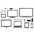 modern smart tv computer monitor laptop tablet vector image vector image