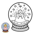 numbers game for children snowball with angel vector image vector image