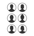 profiles set vector image vector image