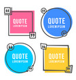 quotes form and speech box isolated on white vector image vector image