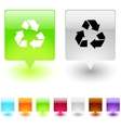 recycling square button vector image vector image