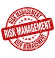 risk management red grunge stamp vector image vector image