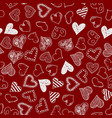 romantic seamless pattern with hand drawn doodle vector image