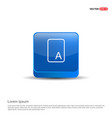 sample text icon - 3d blue button vector image