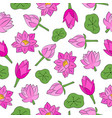 seamless background pond with lotus pink vector image