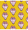 Seamless pattern background of owl vector image vector image