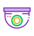 security surveillance camera icon outline vector image