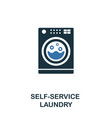 self-service laundry icon creative two colors vector image vector image
