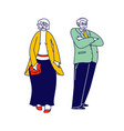 senior couple characters in elegant clothes vector image