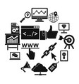 seo icons set simple style vector image vector image