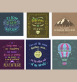 set of travel posters hand drawn vector image vector image