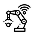 smart robot icon outline vector image vector image