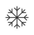 snowflake icon flat vector image vector image