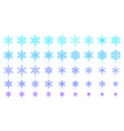 snowflake simple color line icons set vector image vector image