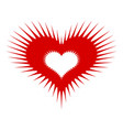 spiked heart icon simple style vector image vector image