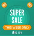 super sale banner sale poster in paper cut style vector image