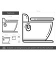toilet line icon vector image vector image