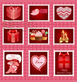 Valentine day postage set vector image vector image
