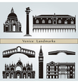 Venice landmarks and monuments vector image vector image