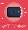 wallet fintech investment financial internet vector image vector image
