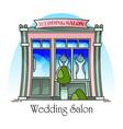 wedding salon buildingmarriage ceremony structure vector image vector image